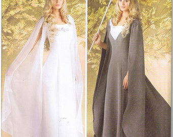 Renaissance Medieval Queen Princess Wedding Dress Gown Simplicity 1551 Sewing Pattern 8 10 12 14