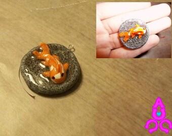 Polymer Clay/Epoxy Resin Koi Fish Charm
