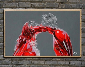 oil painting,figure painting,modern canvas painting for home decor,contemporary fineart,framed,ready to hang,huge 40''