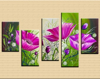 oil painting,flowers painting,modern canvas painting for home decor,framed,ready to hang,huge 150x80cm