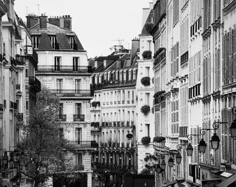 Paris black and white photography, Paris architecture, Paris photography, black and white photo, rooftops, black and white photography