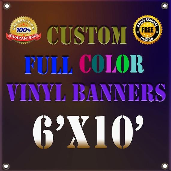 Custom 6x10 Vinyl Banner For Retail Shop Birthday Party Banner