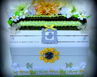 Baby Shower Card Box, Gender Nuetral