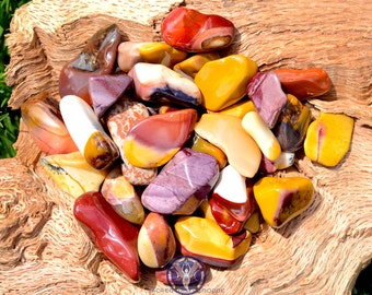 Mookaite Tumbled Gemstone - For decision-making, strength, healing, shielding, & problem solving