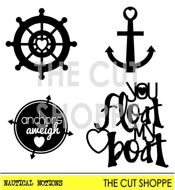 The Nautical Notions cut file consists of four icons, that can be used on your scrapbooking and paper crafting projects.