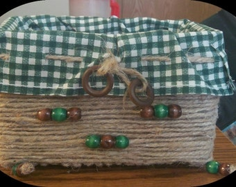 Hand wrapped beaded baskets