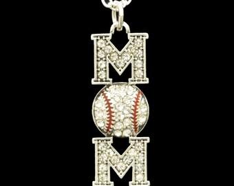 Baseball Mom Rhinestone Necklace