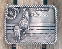 86th Annual National Western Stock Show and Rodeo Vintage Belt Buckle