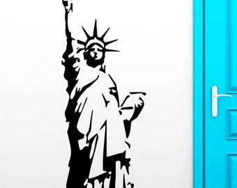 Wall Sticker Statue Of Freedom New York Big Apple Decor Living Room (z2529)