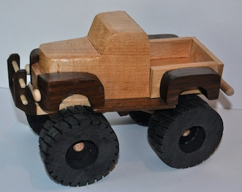 Hardwood Toy Monster Truck
