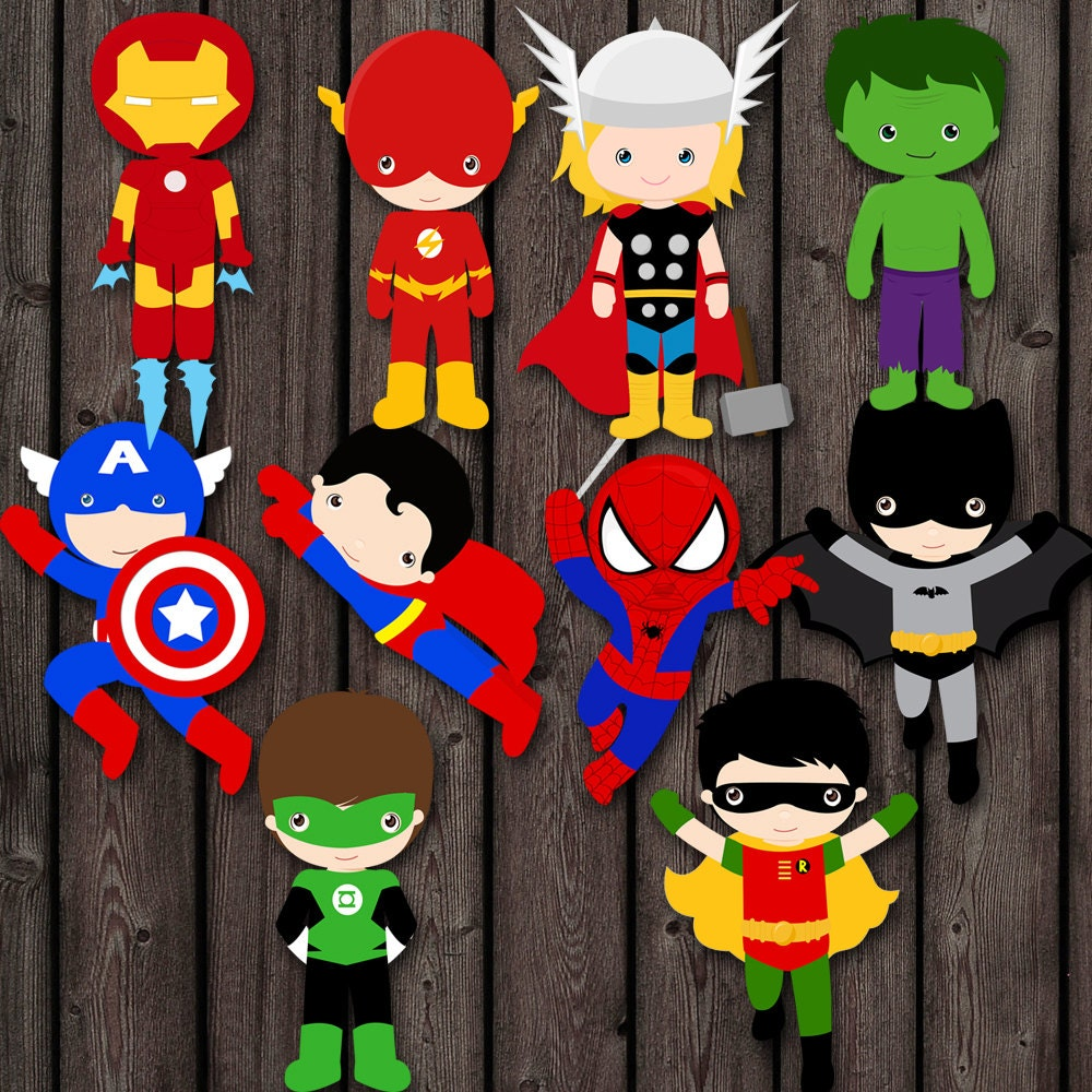 Superheroes Bedroom Superhero Wall Art Etsy