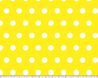Yellow Polka Dot Fabric, Bright Yellow Fabric, Yellow Fabric,  Fabric by the Yard, sewing fabric, woven cotton