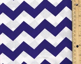 Purple Chevron Fabric, Purple cotton Fabric, 1 inch Chevron, Fabric by the Yard, sewing fabric