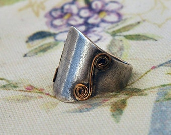 Statement ring , Silver ring