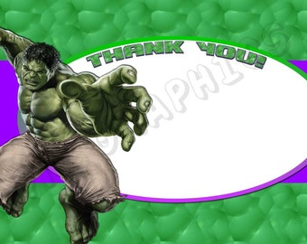 Hulk 4x6 Thank You Card - Printable