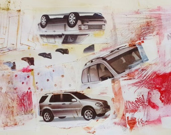 Mixed Media Collage Art, Original Abstract Acrylic Painting, Modern Art Abstract Painting, Mixed Media Wall Art, Original Art Work, Fine Art