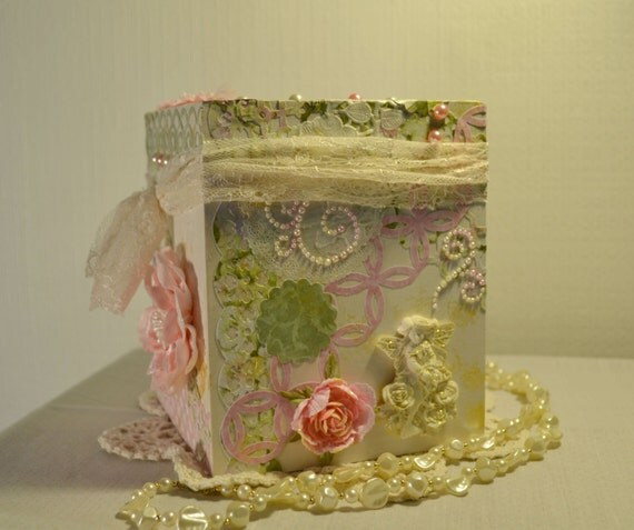 Decorated Tissue Box: Small Decorated Tissue Box Cover Wooden