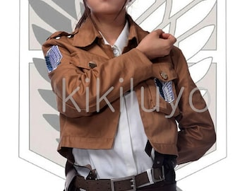 Attack on Titan Shingeki no Kyojin Recon Corps / Army Coat / Top Jacket - All Embroidery patches