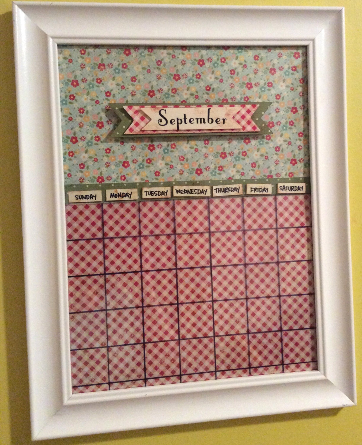 Monthly Calendar Board : Monthly magnetic dry erase calendar board by