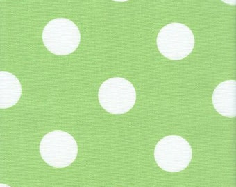 Polka Dot Fabric Green & White Indoor Outdoor Fabric