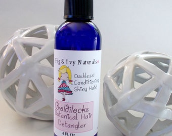 Goldilocks Botanical Hair Detangler - Kids Girls Natural Leave In Conditioner - Natural Hair Spray Mist