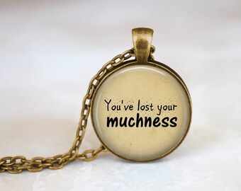 Alice In Wonderland Pendant Madhatter Quote Necklace Kawaii Jewelry You've Lost Your Muchness Madhatter Jewelry Alice In Wonderland Necklace