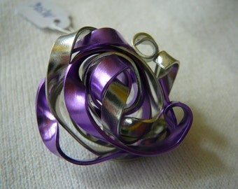Ring Purple Silver Creation