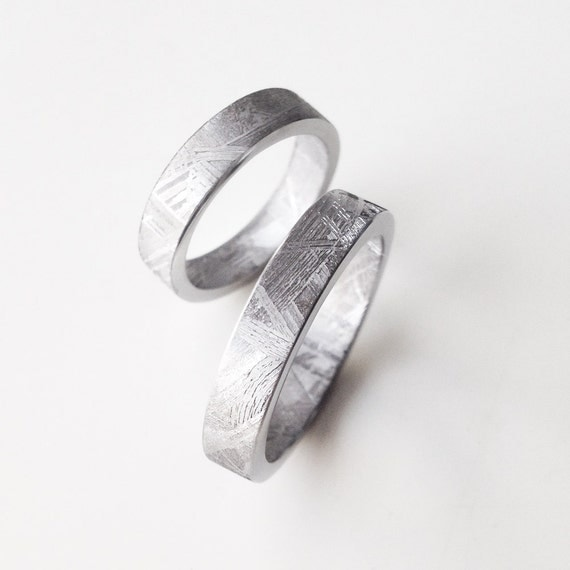 meteorite jewelry contemporary solid meteorite band ring