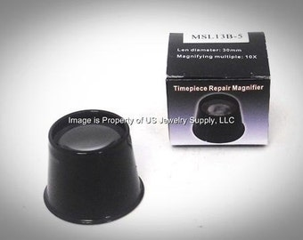 2 Jewelers Plastic 10X Eye Loupes Timepiece Repair Magnifier 30mm Lens