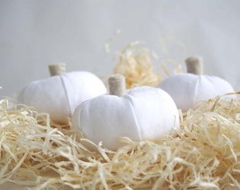Mini Fabric Pumpkins - Thanksgiving Decor - Autumn Home Decoration - Fabric Pumpkin