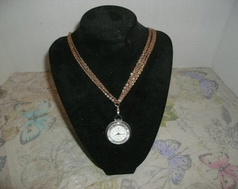 Princeton Antimagnetic Vintage Swiss Made Watch Necklace.