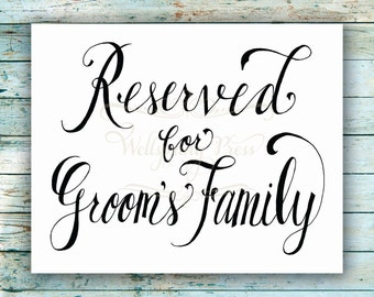 popular items for family wedding signs on etsy. Black Bedroom Furniture Sets. Home Design Ideas