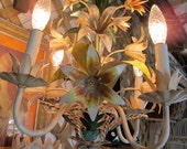 French Country chandelier.  Flower design.  Small size.