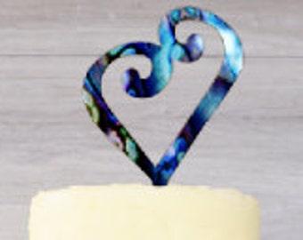 Uneven Heart cake topper