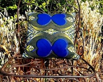 African Pillow, African Cushion, Wax Print Pillow, Wax Print Cushion, African Print Pillow, African Pillow Case, Pillow