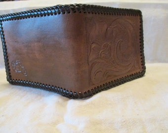 Hand made leather wallet.