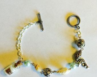 Handmade nautical bracelet with wishing dust