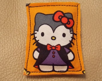 Hello Kitty Dracula - handmade organic Halloween catnip toy - Vampire season!
