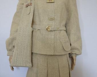 Linen buckram suit.