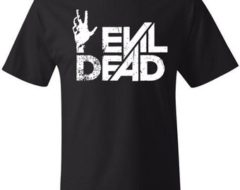 EVIL DEAD T-shirt Soft Ringspun Cotton by Hanes - 40 COLORS American Horror Film Scary Movie Bruce Campbell Hollywood