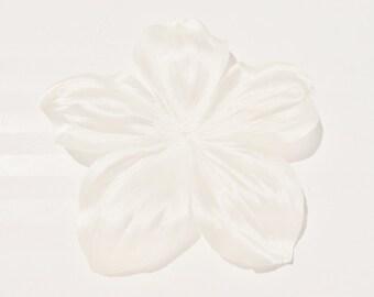 Flower  ivory silk duchess satin shaped 120 mm