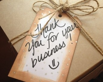 Thank you for your business gift tag/ card holder