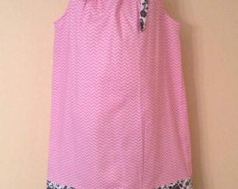 Pink Chevron Pillowcase Dress     SALE!!!   REDUCED PRICE!!!