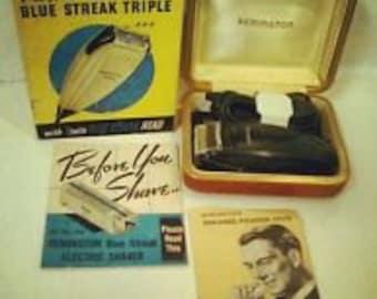 BATH003  Remington Blue Streak Triple Razor