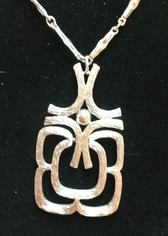 SALE!!  Vintage 1960's Decorative  Pendant Necklace  SALE!!  was 22.50  now  14.50   SALE!!!!