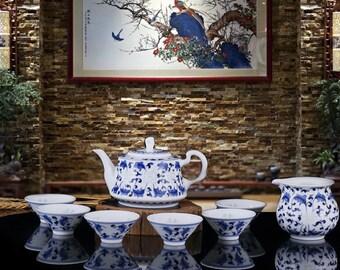 China Tea Set Service, Chinese Tea Set for Oolong Tea, Top Fashion Tea Set