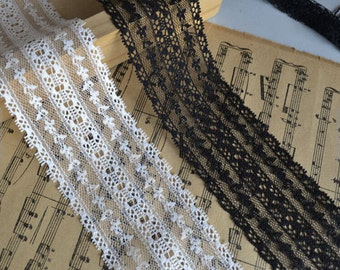 2 Colors Lace Trim Tulle Trim 1.77 Inch Wide 4 Yards S03