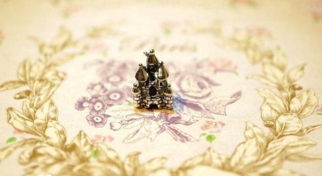 Pandora Charm, 925 silver, sterling silver, castle
