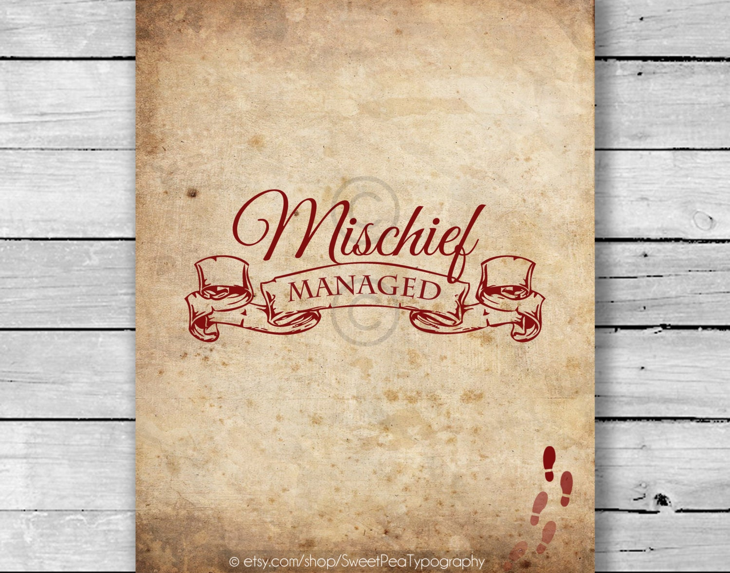 Mischief Managed Marauder's Map Harry Potter Inspired Art