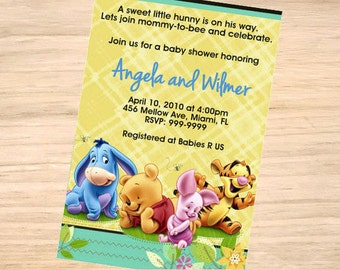 Winnie-the-Pooh Baby Shower Invitation - Winnie-the-Pooh Baby Shower Invitation - Winnie-the-Pooh Invite - Printable Invitation - Digital